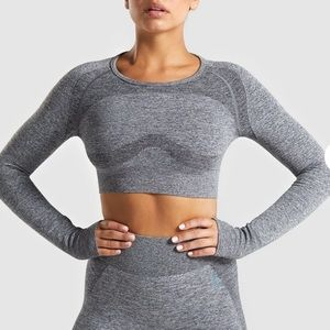 Flex long sleeve crop top
